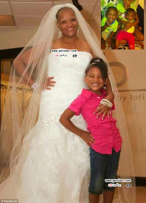 زن سرطانی در لباس عروس رویایی اش +عکس