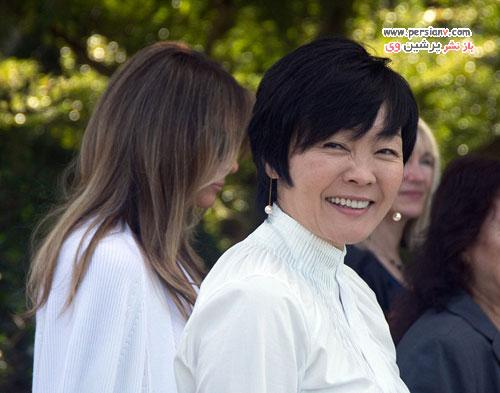 ملانیا ترامپ و همسر نخست وزیر ژاپن در بازدید از موزه باغی در فلوریدا +عکس