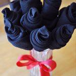 روش درست کردن دسته گل جورابی برای هدیه روز پدر! +عکس