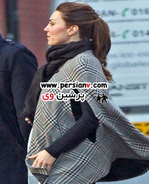 لباس بارداری کیت میدلتون و حرکت فرزندش برای اولین بار ! / عکس