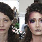 تغییر شکل زنانی با چهره عادی و تبدیل شدن به ملکه زیبایی +تصاویر قبل و بعد
