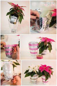 ایده های دوست داشتنی برای تزئین گلدان های ساده +عکس