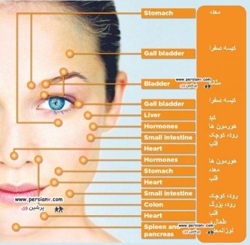 ۱۲نشانه از سلامت داخلی بدن بر روی صورت +عکس