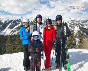 ایوانکا ترامپ و شوهر و سه فرزندشان در حین گردش در شهر کلورادو +عکس