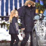 آنجلینا جولی و شش فرزندش در گردش اسکی در کلرادو +عکس