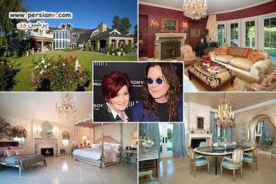 نمایی از خانه زوج های مشهور+ عکس