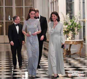 کیت میدلتون با تیپ های مختلف در کاخ الیزه و دیدار با رئیس جمهور فرانسه +عکس