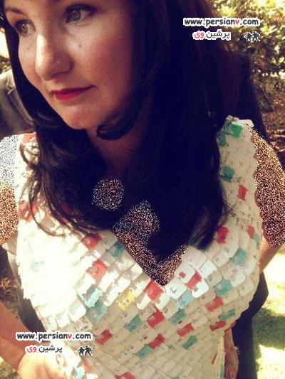 لباس عجیب یک طراح مد برای عروسی خودش +عکس