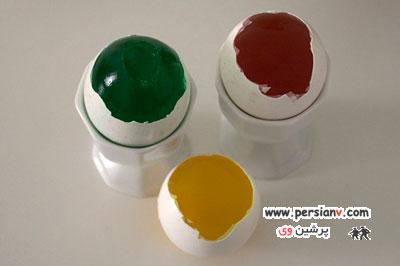 روش تهیه ژله تخم مرغی با ظاهر رنگارنگ و ابتکاری +راهنمای تصویری