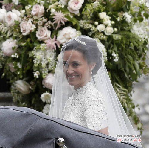 مراسم عروسی پیپا میدلتون با حضور خواهر مشهورش دوشس کمبریج