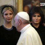 تیپ همسر و دختر ترامپ در دیدار با پاپ فرانسیس در واتیکان