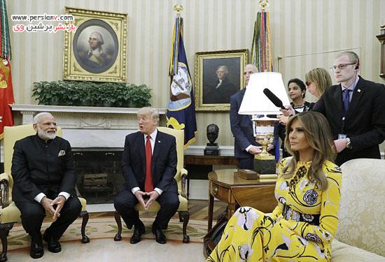 تیپ دیدنی ملانیا ترامپ