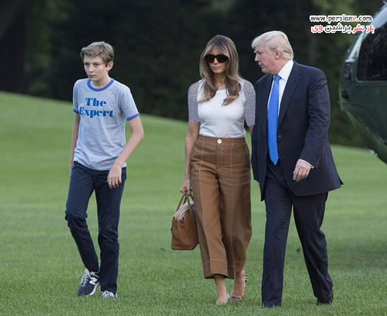نقل مکان همسر ترامپ به کاخ سفید