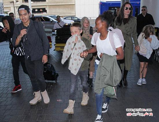 آنجلینا جولی و شش فرزندش