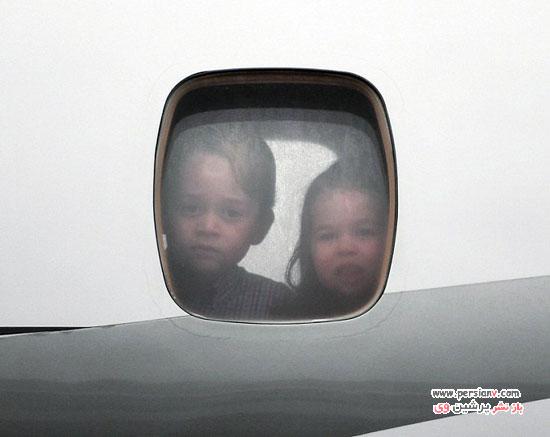 فرزندان کیت میدلتون در سفر لهستان