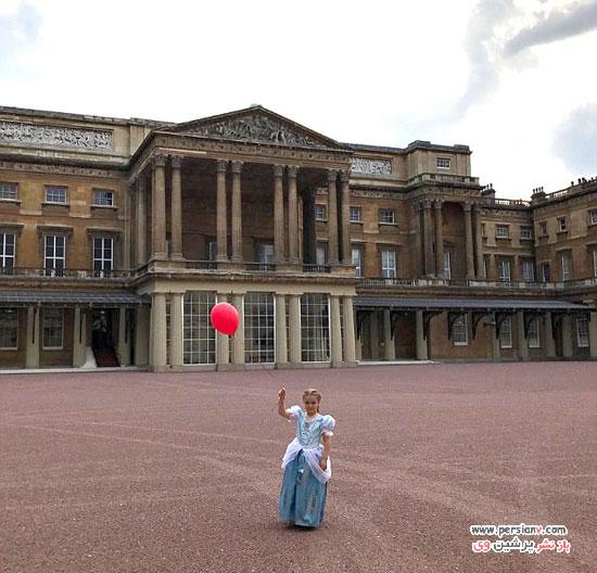 دختر دیوید بکهام در کاخ باکینگهام