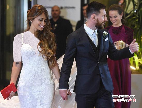 مراسم عروسی مسی و همسرش