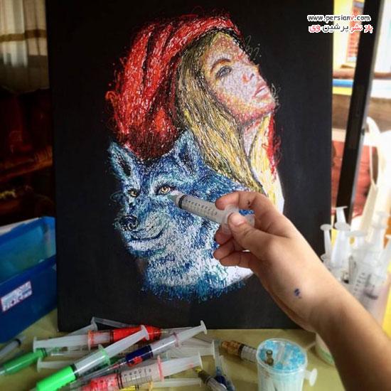 نقاشی با سرنگ