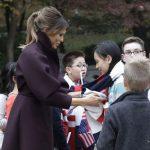 گردش ملانیا ترامپ و همسر رئیس جمهور کره جنوبی در کاخ آبی