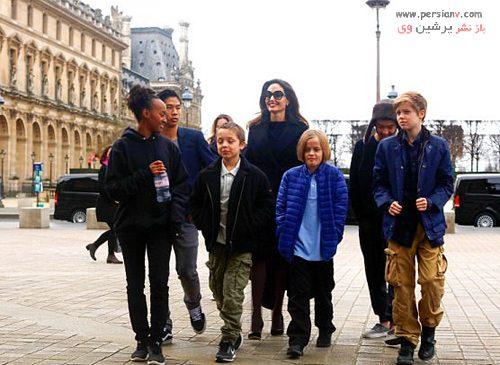 آنجلینا جولی و همه فرزندانش