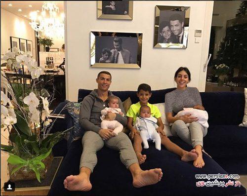 نامزد و فرزندان کریس رونالدو
