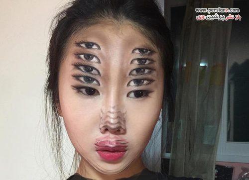 گریم توهم بصری دختر کره ای