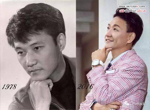 چهره جوان پدربزرگ چینی