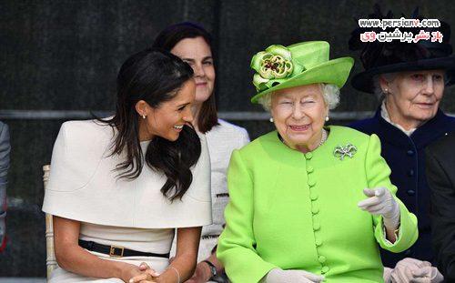 مگان مارکل و ملکه الیزابت