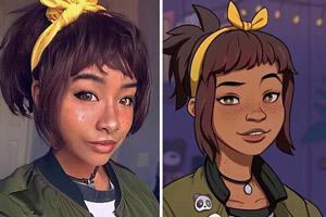 گریم شخصیت های کارتونی دیدنی روی صورت دختر ۲۳ ساله