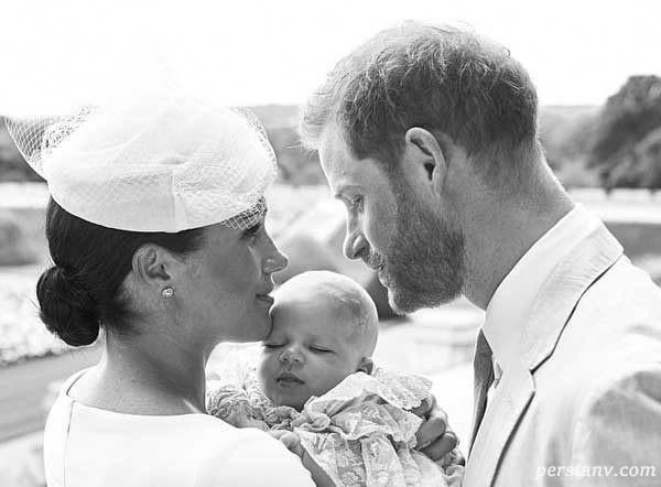 عکس فرزند مگان مارکل و پرنس هری در روز غسل تعمیدش