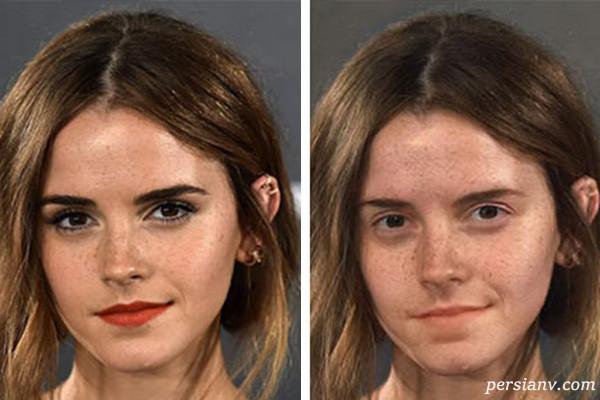 تغییر چهره بازیگران هالیوود با برنامه ای که آرایش را پاک می کند