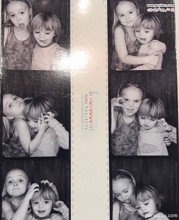 لیلی رز دپ و برادرش جک