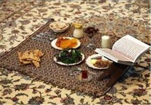 گرداندن سینیهای بزرگ افطاری