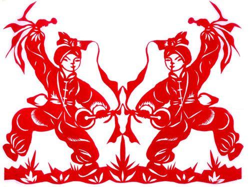 کاغذبری از هنرهای جالب چینی ها