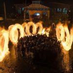 آیین سنتی پولکه گردانی در روستای شیشوان