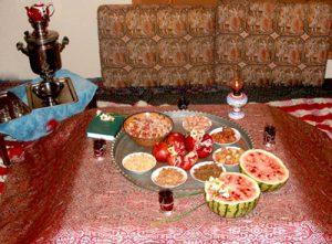 رسوم شب یلدا در قزوین