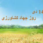 روز جهاد کشاورزی در ۱۴ دی