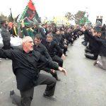 مراسم زانو زدن مردم لاسجرد استان سمنان