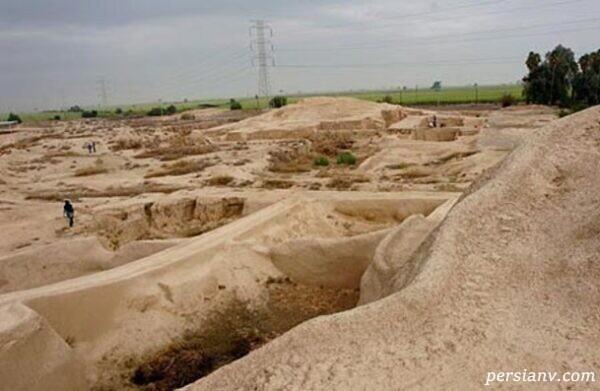 محوطه باستانی هفت تپه در بخش جنوب شرقی شهرستان شوش