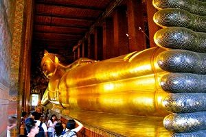 معبد بودای خفته در تایلند+تصاویر