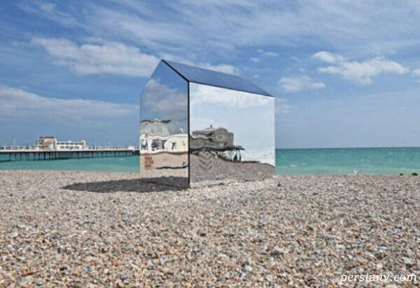 کلبه ای عجیب در ساحل انگلیس