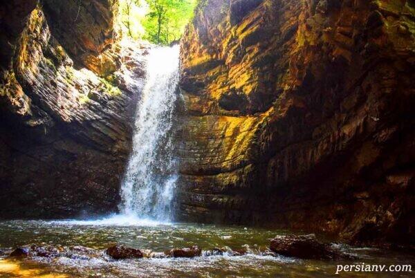 جاده بهشتی و زیبای آبشار ویسادار گیلان