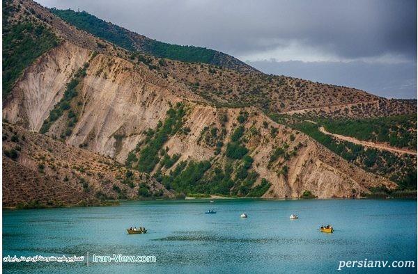 قایق سواری در دریاچه ولشت مازندران+تصاویر