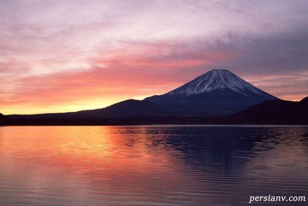 کوه فوجی آتشفشان خاموش ژاپن
