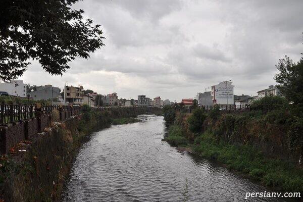 رودخانه گوهررود رشت که از شریانهای اصلی این شهر هست
