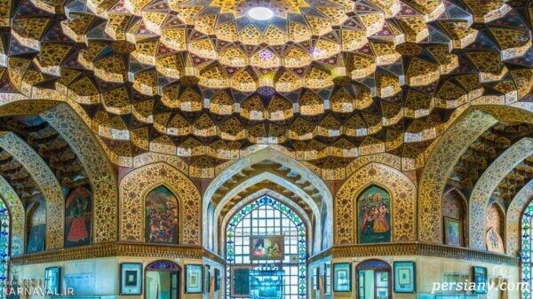 موزه پارس شیراز در عمارت کلاه فرنگی در باغ نظر