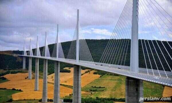 پل میلائو فرانسه طولانی ترین و بلندترین پل کابلی جهان