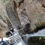 آبشار مهیج ده پله قره سو در شهرستان کلات نادری
