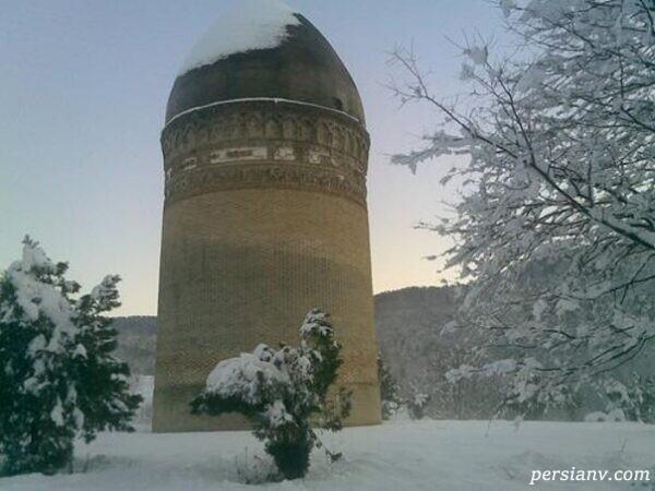 برج لاجیم زیباترین آثار تاریخی مازندران