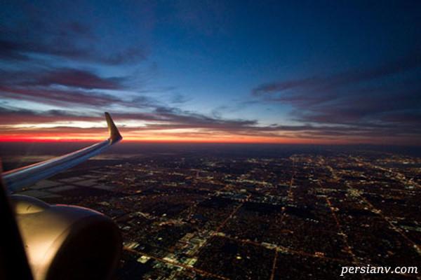 عکاسی از پنجره هواپیما
